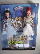 The Flintstones Wilma and Betty Barbie Dolls Silver Label Gift Set Figures 2008