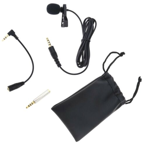 1x Mini Lavalier Mikrofon Omnidirectional Kondensator Mic mit Einfacher Clip