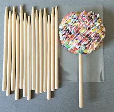"""5.5"""" Wooden Candy Apple Sticks, Wooden Lollipop Sticks, Cake Pop Sticks"""