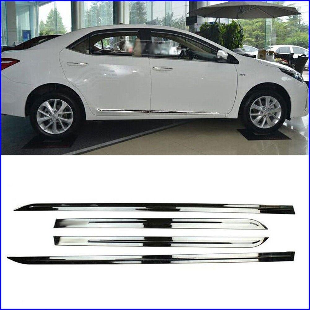 fits Toyota Corolla Hatchback 2019 E210 Chrome Body Side Door Molding Cover Trim
