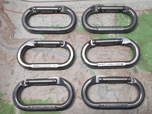 Black-Diamond-Oval-Carabiner-6pak-Rock-Ice-Trad-Big-Wall-Aid-Climbing-New-2nd-s