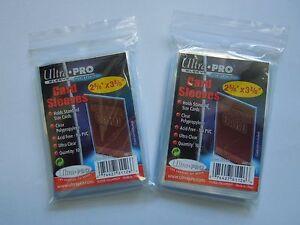 200-Ultra-Pro-Sleeves-Schutzhuellen-Trading-Cards-wie-Match-Attax-Star-Wars-NEU