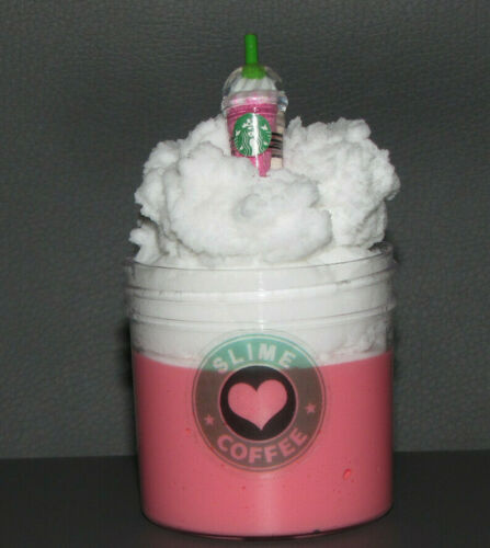 Fraises et Crème DAISO Cloud Slime frappe avec Café Charme ⭐ ⭐ ⭐⭐ ⭐