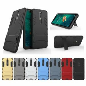 outlet store eb622 30052 Details about For Nokia 5.1 Plus Hybrid Shockproof Armor Case Stand Cover  Slim Rubber Cushione