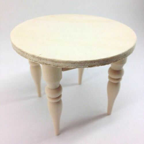 1:12 Dollhouse Miniature ~New in Box Unfinished Wood SMALL ROUND TABLE CLA08703