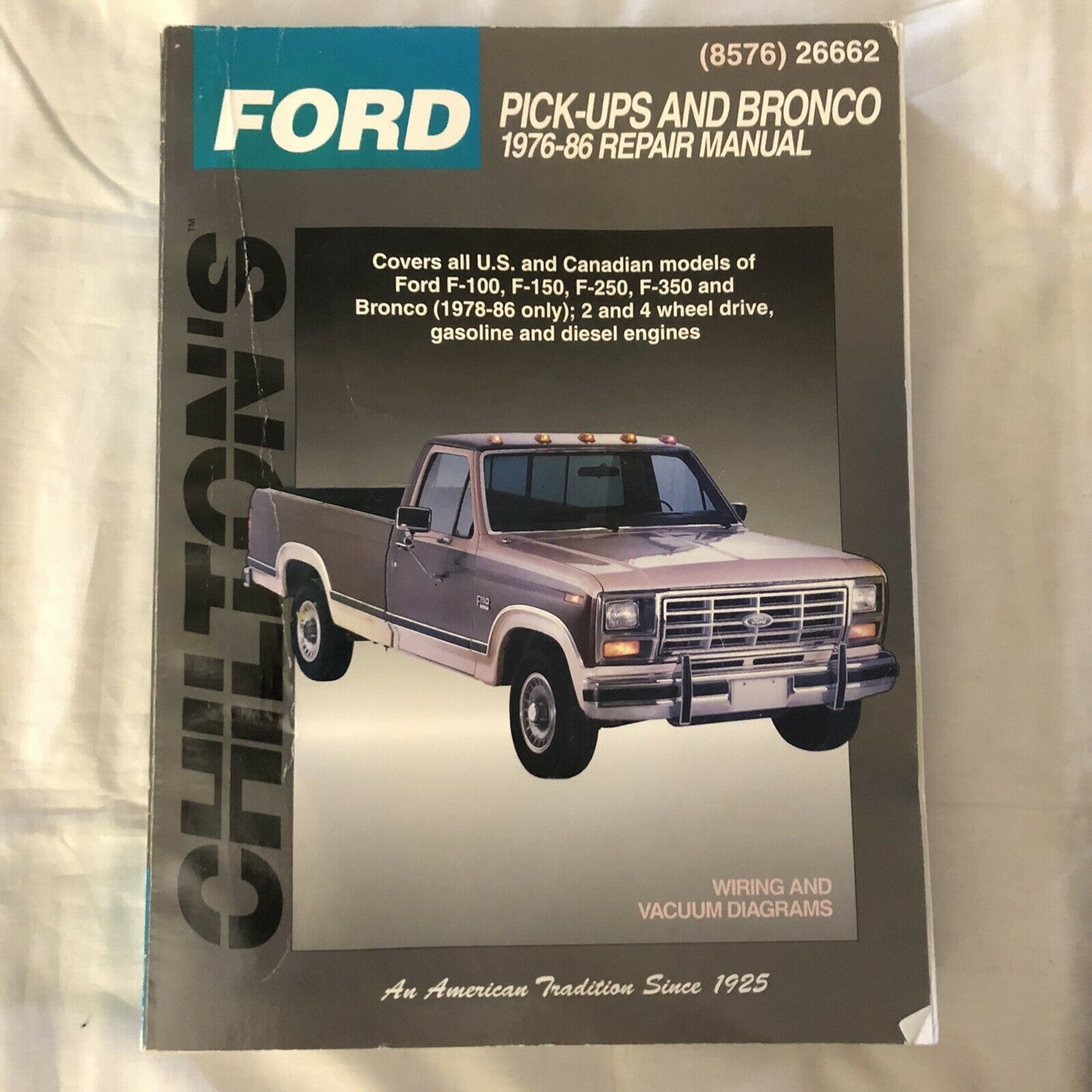 picture of 1986 ford f 150 pick up engine diagram repair manual xlt chilton 26662 for sale online ebay  repair manual xlt chilton 26662 for