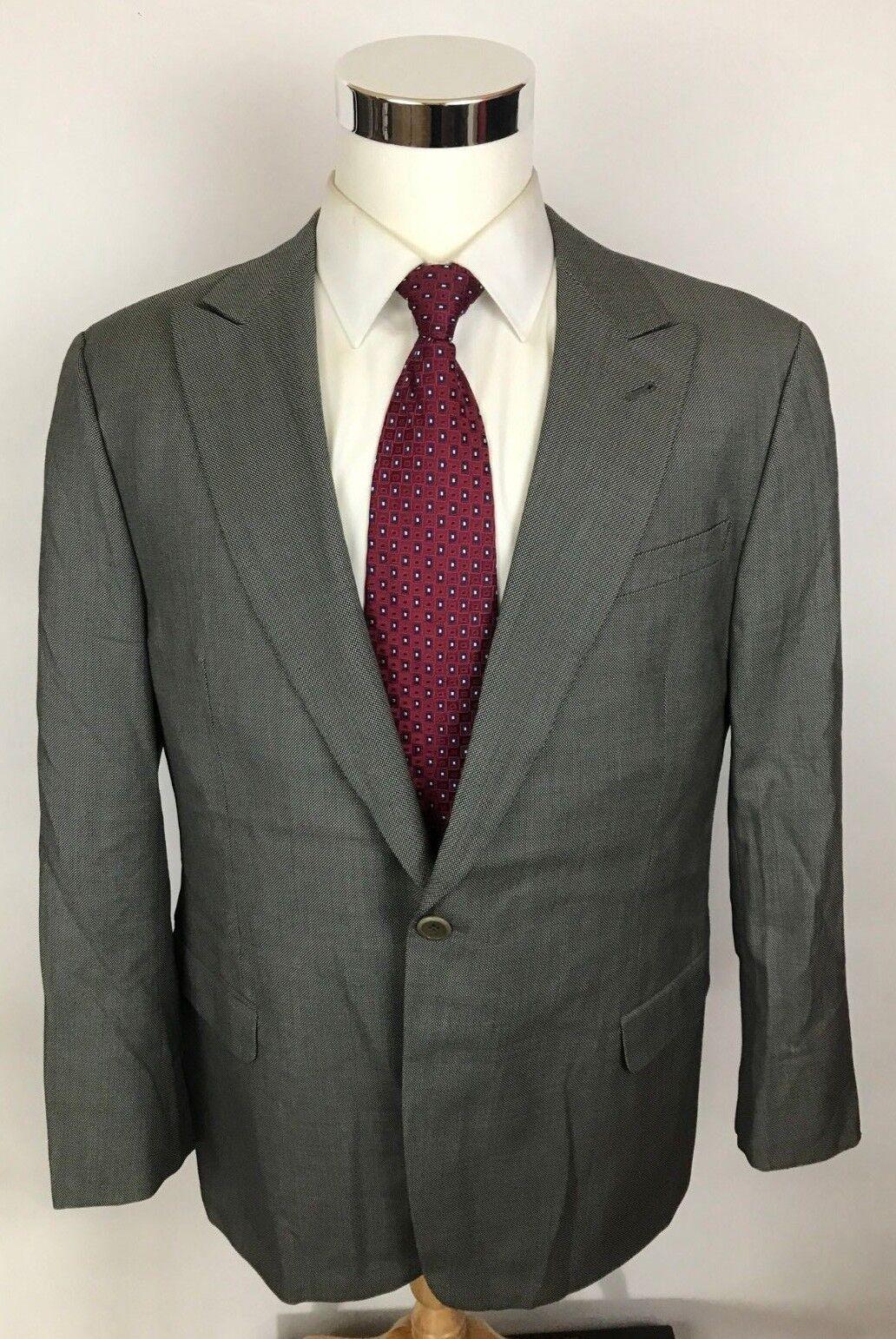 Armani Collezioni Current Label grau Birdseye Modern Fit 2-Btn Wool Blazer 44R