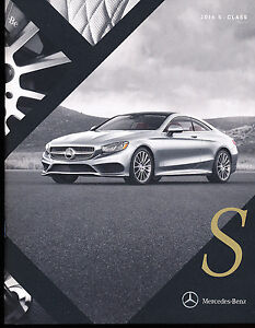 2016 mercedes benz s class coupe 32 page car brochure for Mercedes benz s550 accessories