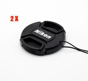 2X-Nikon-55mm-universal-Lens-cap-Cover-For-D5600-D3400-AF-P-DX-NIKKOR-18-55mm
