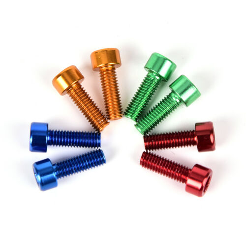 2Pcs Bike Water Bottle Cage Bolts M5*15MM Aluminium Alloy Hex Tapping Screws PSK