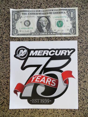 6 x 6 inches Large Mercury 75 Years Fishing Sticker