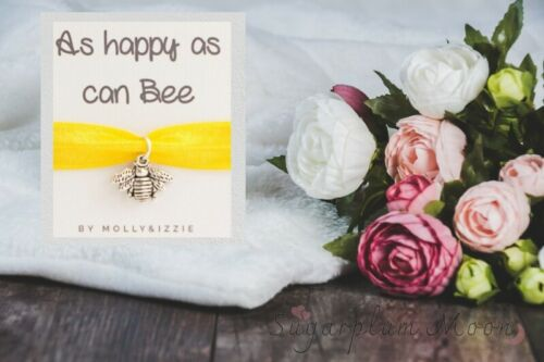 Silver Bee Charm Bracelet Happy As Can Bee