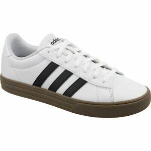 Adidas-Daily-2-0-F34469-Scarpe-da-Ginnastica-Bassa-pelle-Bianca-Nera
