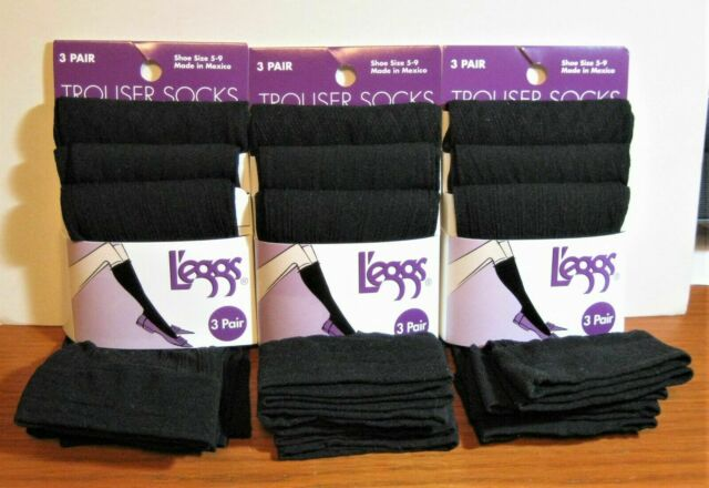 Shoe Size 5-9 AND 9-12 BLACK 2-Pack L/'eggs Energy Collection Trouser Socks