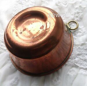 Antique Copper Mold Victorian Lovely Kitchenalia Baking Sweden 1880s Cake Jello Home & Hearth Other Antique Home & Hearth