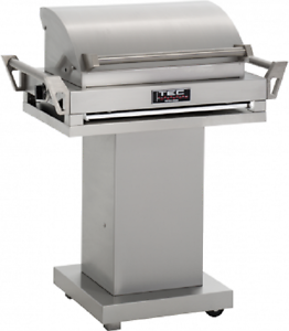 TEC-36-034-G-Sport-FR-Natural-Gas-Grill-On-Stainless-Steel-Pedestal-GSRNTFR-GSPED