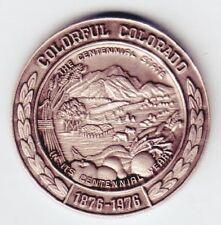 C3112 Colorado Pewter Medal, Centennial 1976