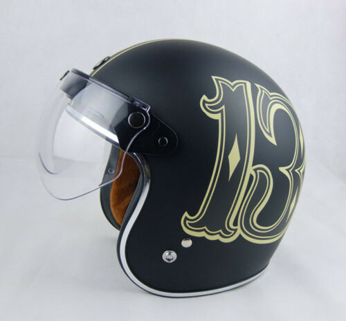Universal Motorcycle Helmet Lens Flip Up Half Open Face Wind Visor Modern Supply