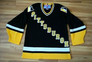 VINTAGE-PITTSBURGH-PENGUINS-HOCKEY-SHIRT-JERSEY-CCM-NHL-SIZE-MENS-MEDIUM-RARE