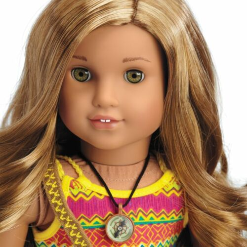 """Messenger Bag Leah Necklace American Girl LEA 18/"""" Doll of the Year 2016+Book"""