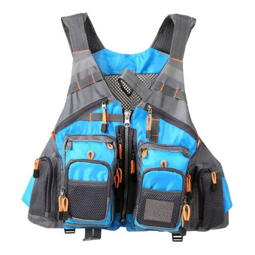 Fliegenfischerweste mit mehreren Taschen Rucksack Brustgitter Tasche