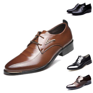 Men-s-Oxfords-Business-Dress-Formal-Leather-Shoes-Flat-Lace-Up-Casual-Loafers