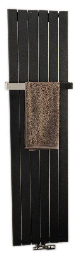 Badheizkörper 298x1800 mm, 614 W, schwarz, COLONNA