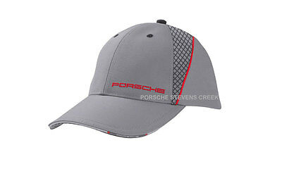 Porsche Racing Collection Baseball Golf Cap Hat One Size Fits Gray Red