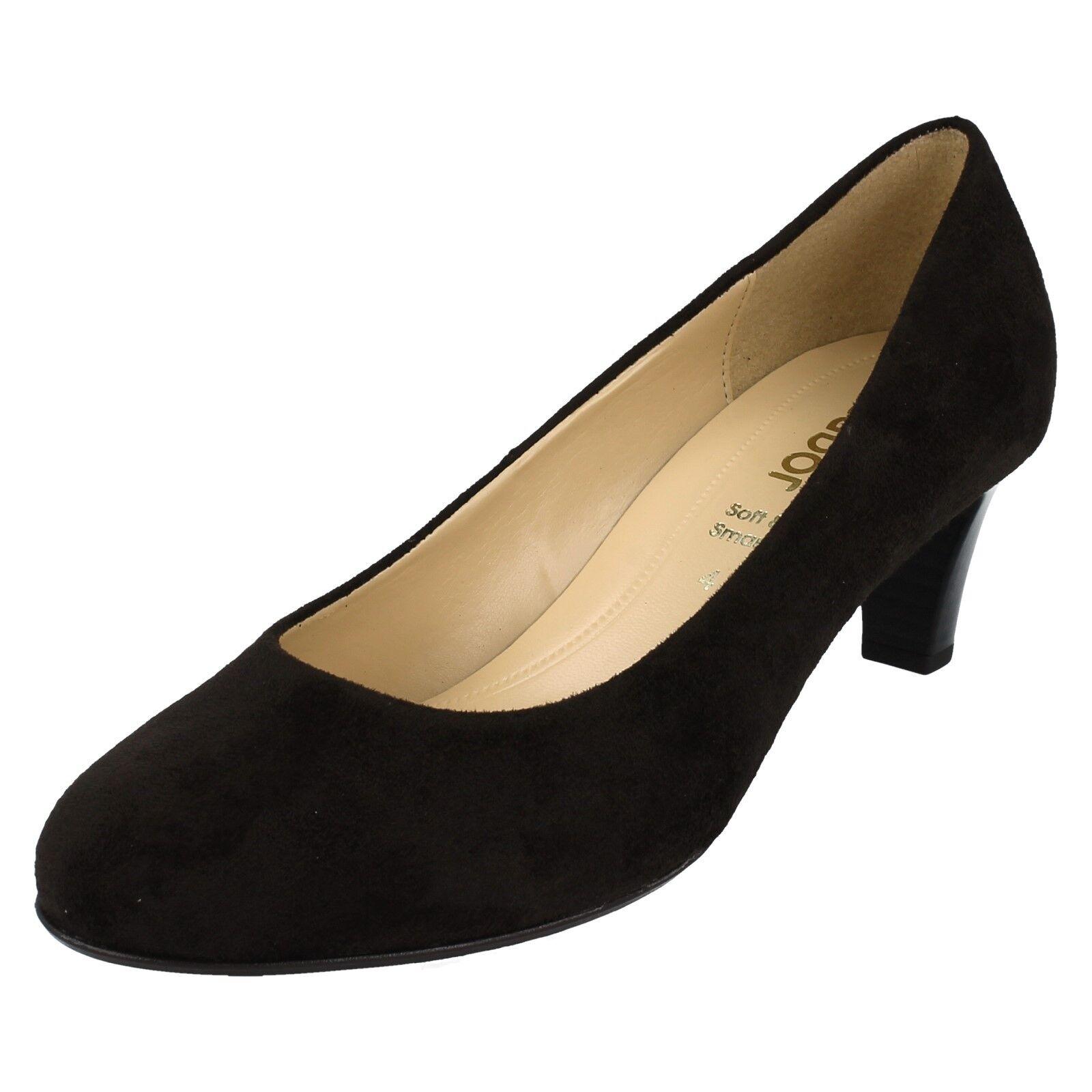 Mujer Mujer Mujer Gabor Zapatos de Salón Marrón Oscuro Microvelour 95300  Esperando por ti