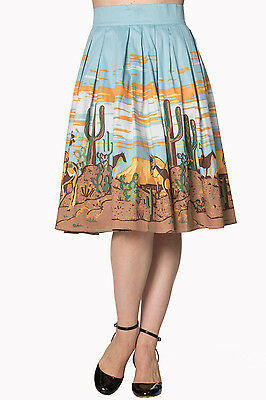 COWBOY 1950s style swing skirt - Rockabilly Cowgirl - Pinup Retro Vintage