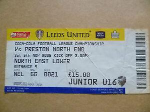 Tickets 2005 LEEDS UNITED v PRESTON NORTH END 5 Nov League Championship - London, United Kingdom - Tickets 2005 LEEDS UNITED v PRESTON NORTH END 5 Nov League Championship - London, United Kingdom
