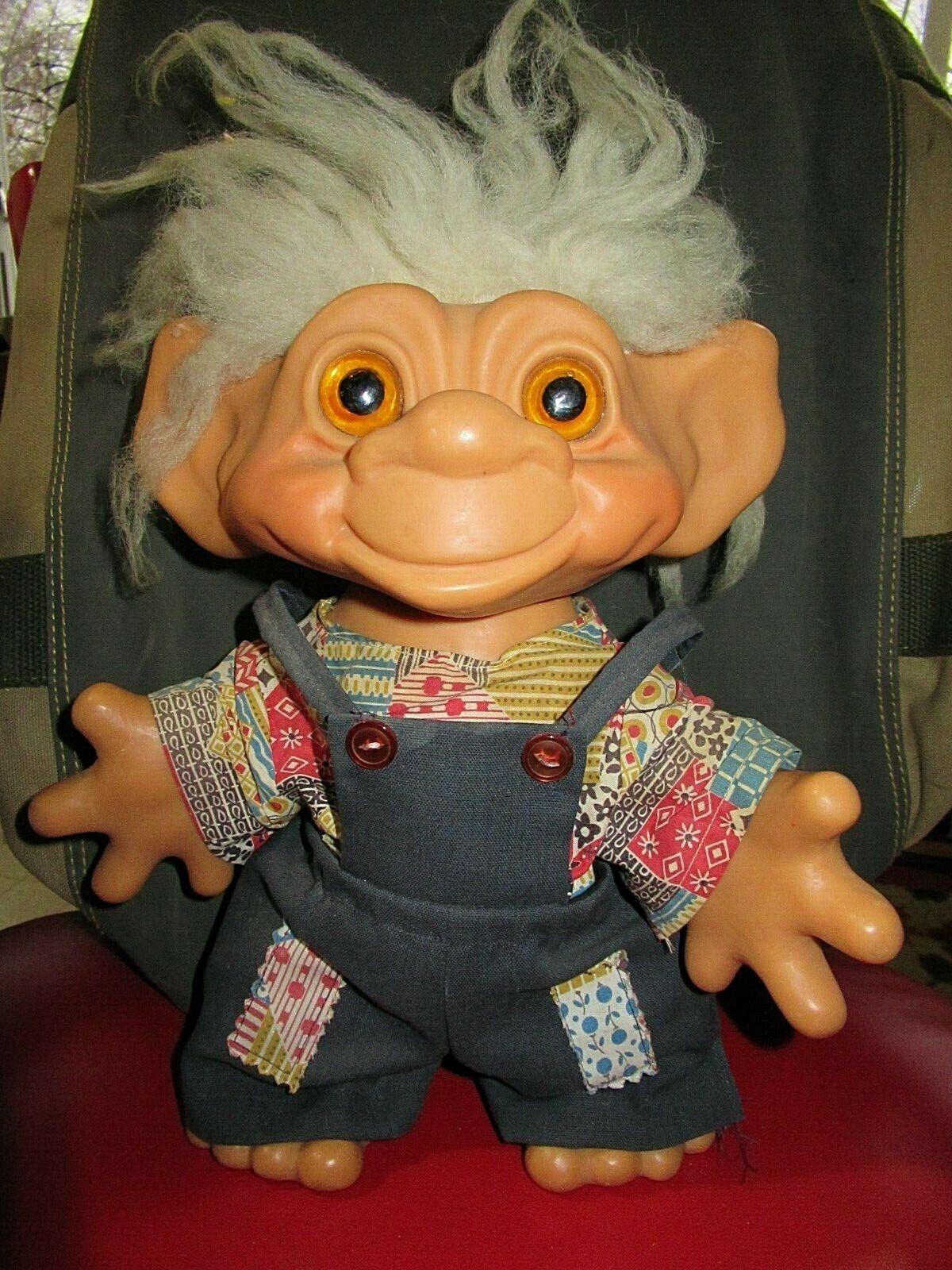 Presa de las cosas establecimiento TROLL muñeca 1964 hecha en Dinamarca 10  T presa Troll