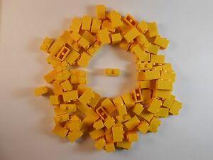 LEGO-1X2-BRICKS-LOT-OF-50-YELLOW-BRAND-NEW-FREE-SHIPPING