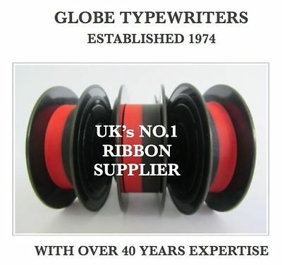 Radient 3 X Imperial 205 *black/red* Top Quality *10 Metre* Typewriter Ribbons + Eyelets Acquista Ora