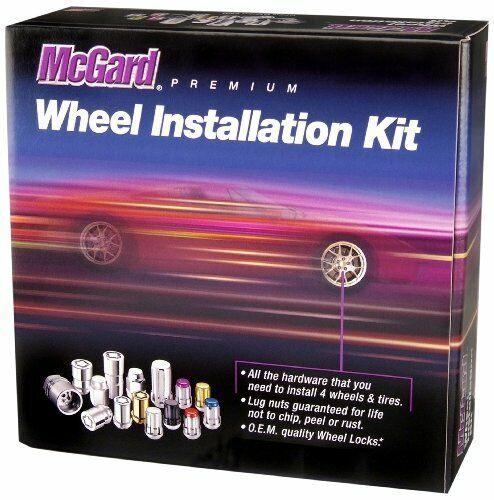 "McGard 84525 5 Lug Hex Install Kit M14X1.5 Cone Seat  1.635/""Oal-Chrome"