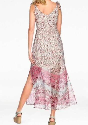 Vestido Cheer Rose rosa Lang geblümt ligeramente talla 38 40 44