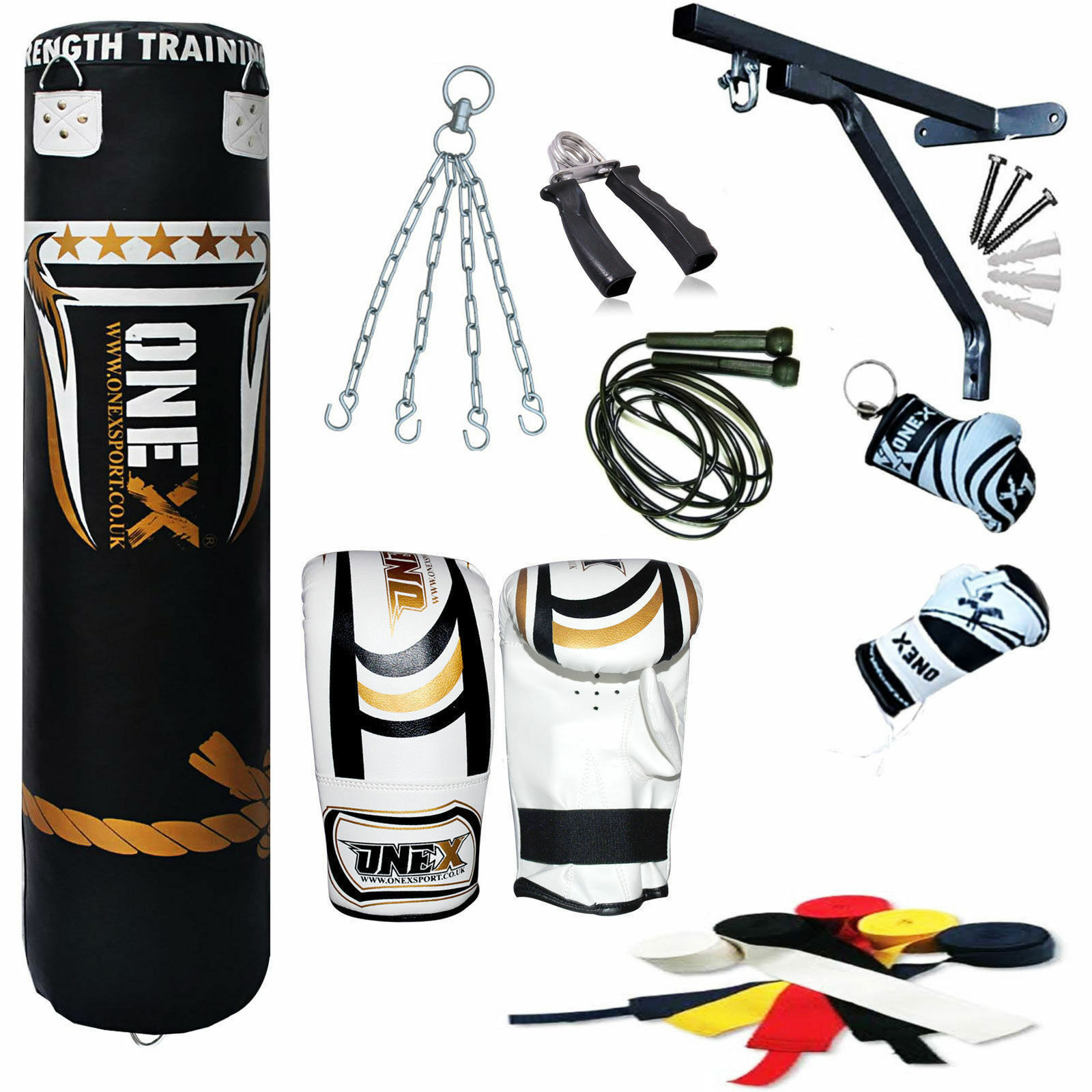 New Junior Punch Bag 13 Piece 5 Ft Heavy Heavy Heavy Filled Boxing Bag 40ebb3