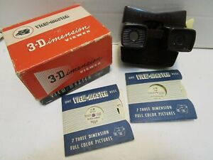 1942 SAWYERS MODEL E VIEW MASTER W/BLACK SAMBO & UGLY DUCKLING REELS & BOOKLETS