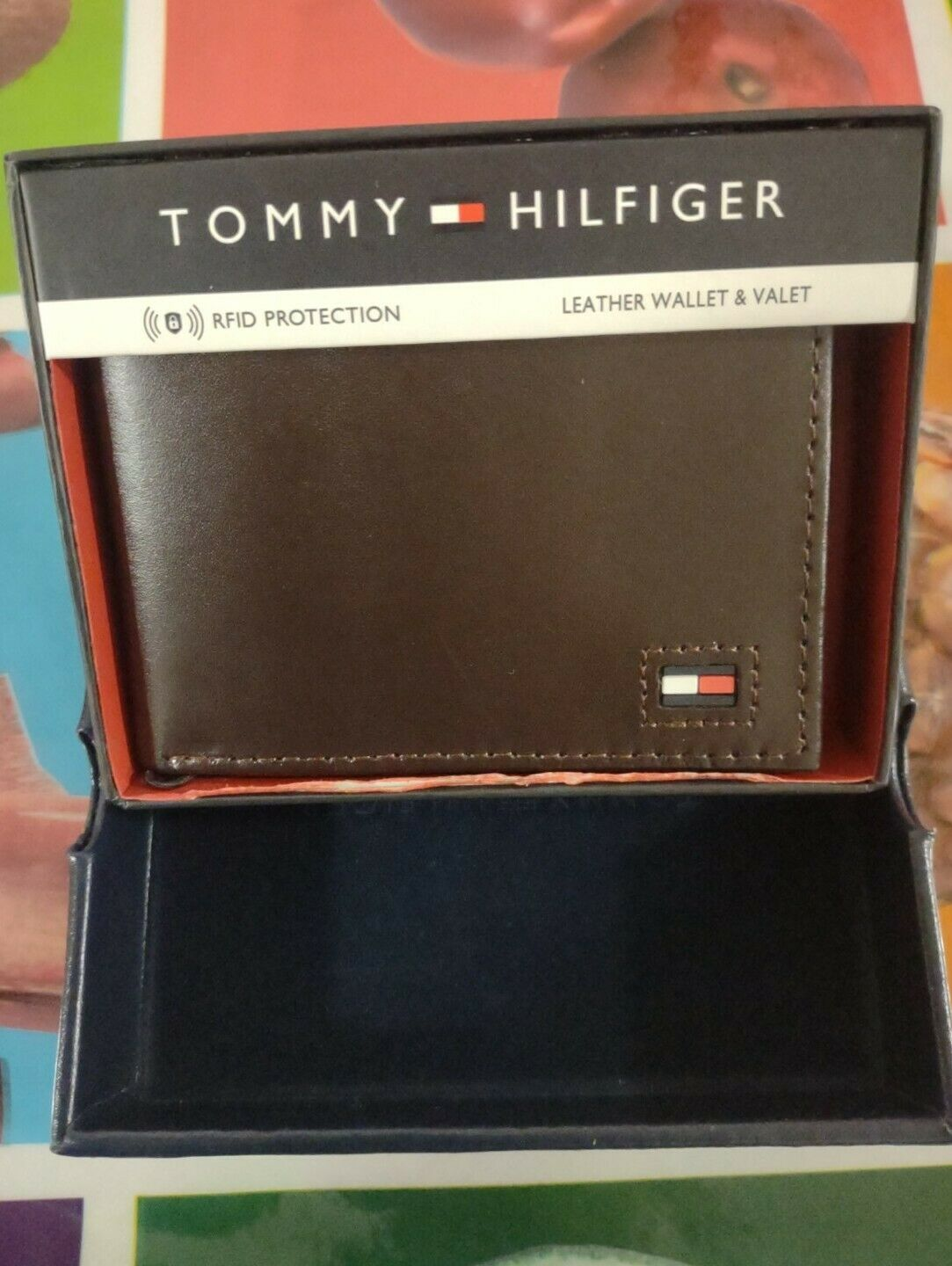 Tommy Hilfiger Black Leather Wallet and Valet, RFID Blocking NEW