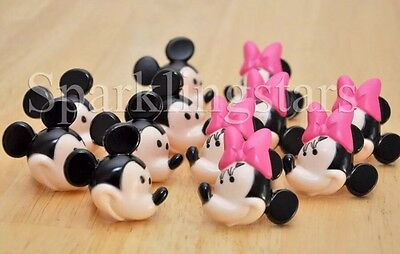 12 Minnie Mouse Cupcake Rings Birthday Party Favors Toppers