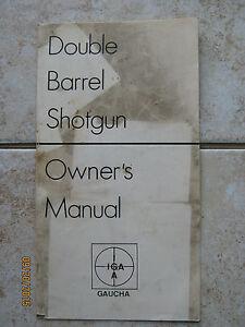 IGA INSTRUCTION BOOKLET & Parts List DOUBLE BARREL SHOTGUN
