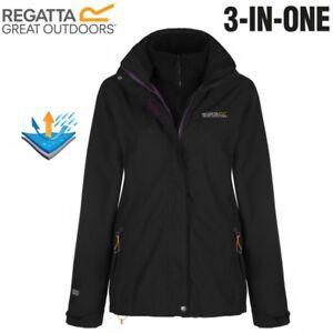 Details about REGATTA WOMENS LADIES 3 IN 1 CALYN II CIRRO WATERPROOF COAT JACKET
