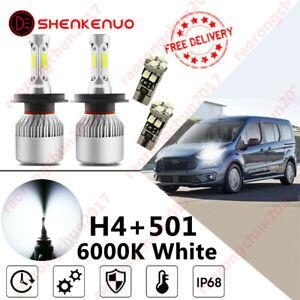 2x For Transit Mk7 07-12 Xenon White H4 HB2 LED Headlight Bulbs 6000k Waterproof