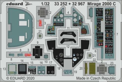 MIRAGE 2000C EDUARD ZOOM P.E 1//32 Kit Kitty Hawk