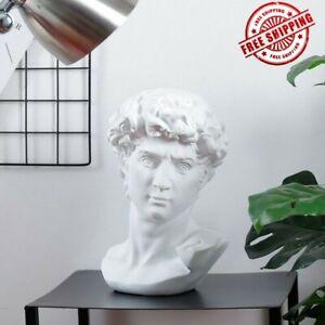 David-Head-Statue-Bust-Sculpture-Antique-Doll-Marble-Figurine-Base-Minifigures