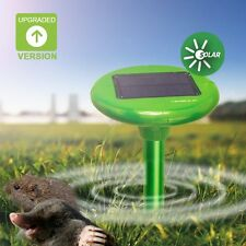 2 Vensmile Solar Mole Repellent Gopher Mice Rats Repeller Control Outdoor Rodent