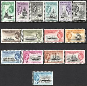Falkland Islands Dependencies 1954 Ships complete set mint MNH SG-G26---G40 (15)