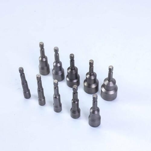 """10-tlg Stecknuss Adapter Steckschlüssel 1//4/"""" Sechskant Magnet Nuss Bitsatz"""