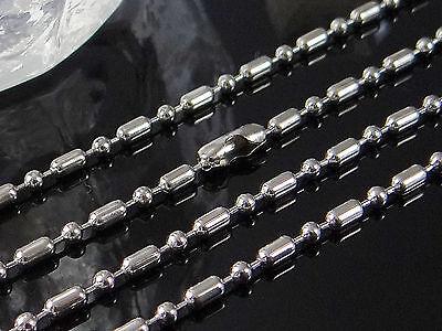 Edelstahl Kugelkette Ø 2,4 Mm 35/40/45/50/55/60/65/70 Cm Kette Halskette, Hh-20 Durch Wissenschaftlichen Prozess