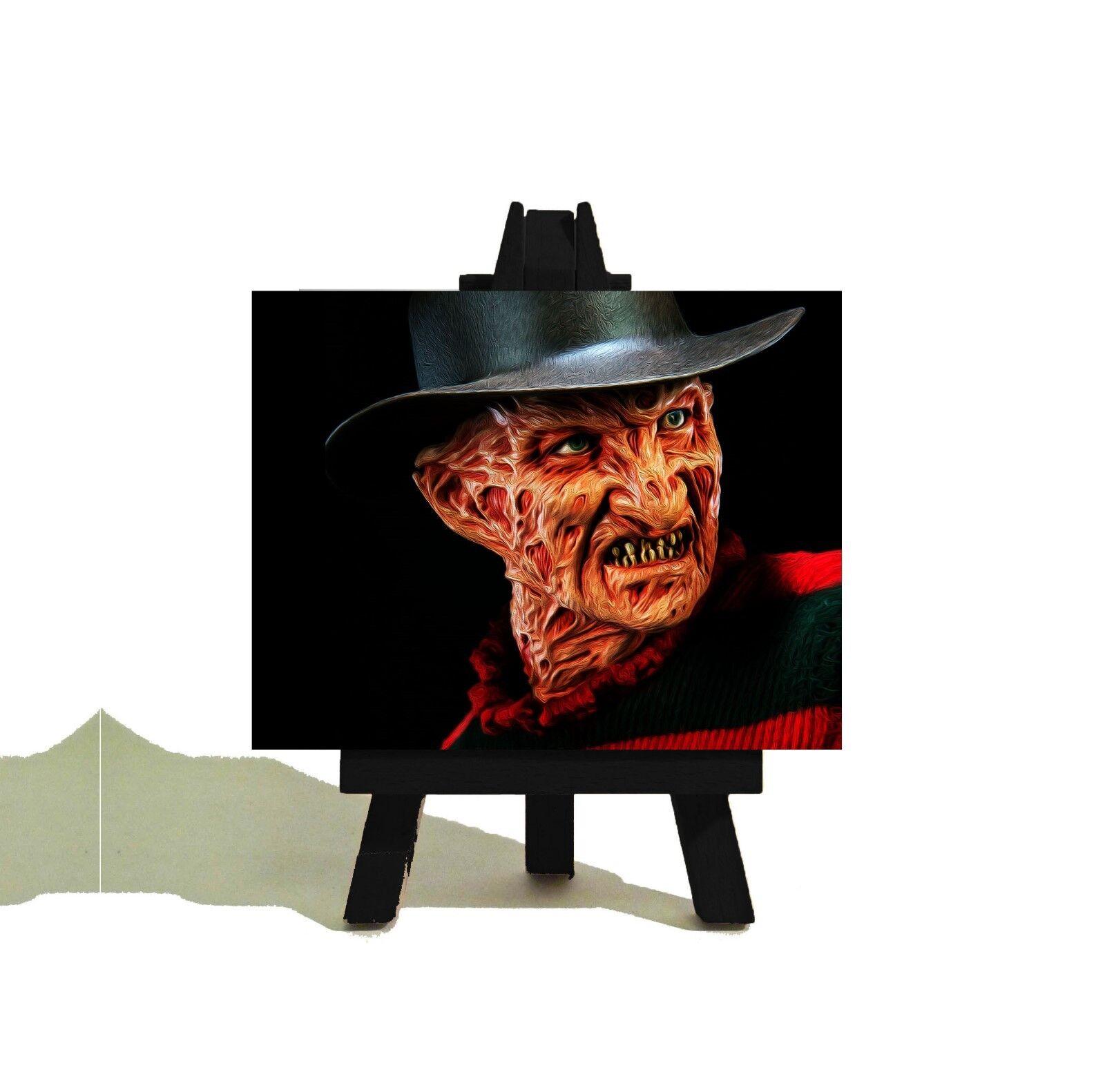 FROTdy krueger halloween mini - dekor - mini halloween - leinwand & staffelei - coole halloween - geschenk 787d9e